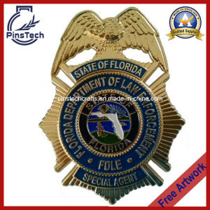 Fdle Badge, Gold Plated Police Belt Badge
