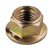2016 Hot Sale Hexagonal Flange Lock Nut, Yellow Zinc Plated pictures & photos