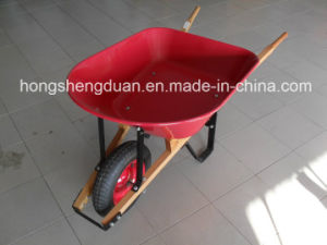 Steel Tray Wooden Handle Wheelbarrow
