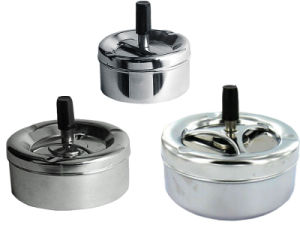 Chrome Plasted Metal Spinning Ashtray
