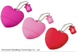 PVC USB Flash Drives Heart Shaped USB Flash Disk pictures & photos