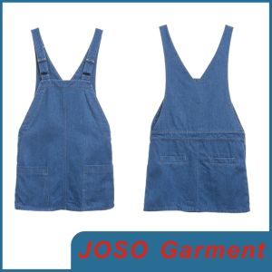 Girls Denim Suspender Dress (JC2032) pictures & photos
