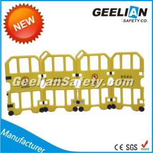 Yellow Temporary Road Safety Traffic Fence Barriers Road Traffic Barrier