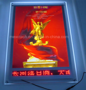 Wall Mounted Acrylic LED Slim Light Box with LED Message Display pictures & photos