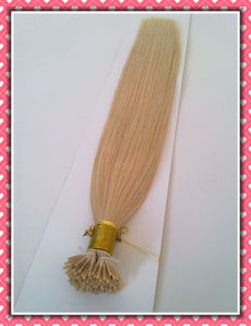 "High Quality 100% Human Hair Pre-Bonded Hair Extension I-Tip 20"" Blonde Color 0.8g/Strand pictures & photos"