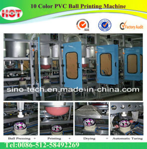 10 Color Soft PVC Ball Printing Machine pictures & photos