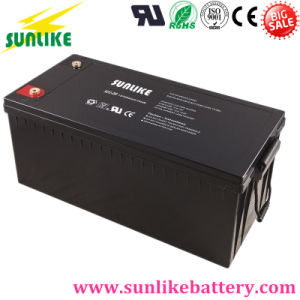 Solar Deep Cycle Gel Battery 12V200ah for Solar Power pictures & photos