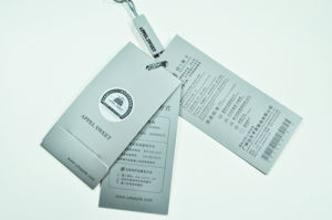 Art Paper Hang Tag with Pin