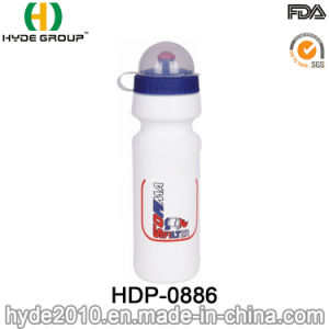 Bicycle Travel PE Plastic Sport Water Bottle with Cap (HDP-0886)