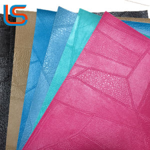 Splicing Patterns Surface PVC Synthetic Leather for Decorative