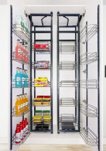 Soft Closing Kitchen Cabinet Pull Out Pantry Unit Storage Basket