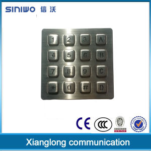 Zhejiang Manufacturing Matrix 4 X 4 Keys Custom Vandal Resistant Metal Keypad with Backlit, Numeric Keys