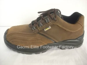 Brown Genuine Leather Light Weight Safety Shoe