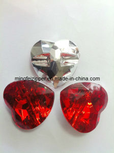 Heart-Shaped Acrylic Button