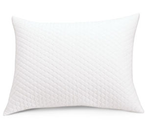 Basic Bedding DEC. White Cotton Quilted Pillow