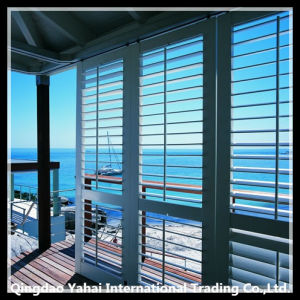 Wooden Horizontal Blinds Clear Float Glass / Window Blade pictures & photos