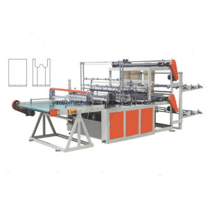 Double Layer Bottom Sealing Bag Making Machine with Conveyor