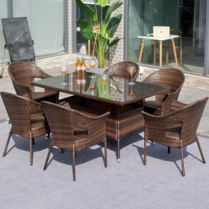 Outdoor Rattan Garden Terrace Outdoor Bistro Table and Chair Furniture