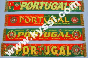 World Cup Teams Tatted Football Scarf, Woven Football Scarf
