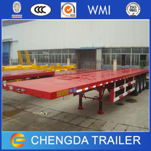 China Manufacturer 3 Axle Flatbed Container Trailer for Sale pictures & photos