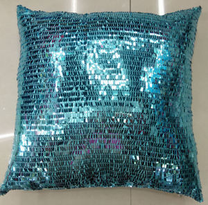 Sequin Embroidery Cushion Fashion Decorative Pillow (XPL-10) pictures & photos