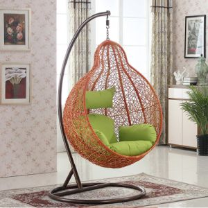 Balcony Outdoor Hanging Egg Chair Wicker / Rattan Patio Swing / Furniture  D028