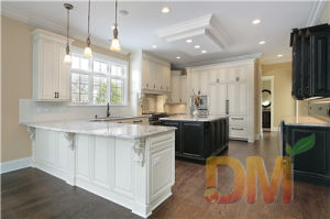 Custom Made White Raised Panel Kitchen Cabinets