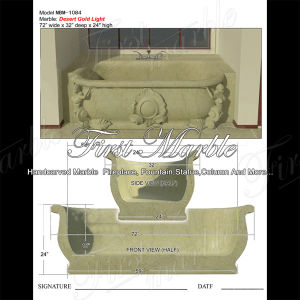 Desert Gold Bathtub for Home Decoration Mbm-1084