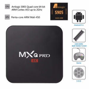 Factory Price Mxq PRO Android TV Box Kodi Loaded Android 5.1 Smart TV Box Lollipop Amlogic S905 TV Box pictures & photos