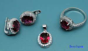Fashion Jewellery Set with Glass Gemstone (S3304)
