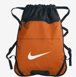 Promotional Laundry Drawstring Bag, Backpack with Pocket pictures & photos