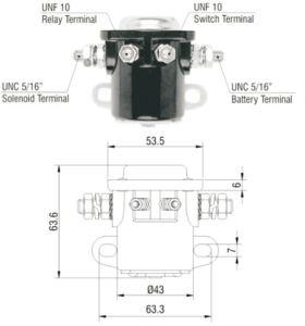 China Zm Solenoid Switch (ZM-401) - China Starter Relay