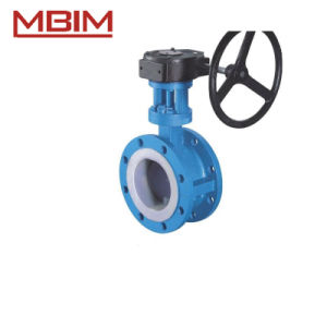Steel Lining Flanged Butterfly Valve pictures & photos