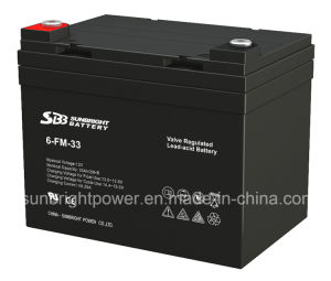 CE UL Approve Deep Cycle 12V33ah Rechargeable AGM Battery pictures & photos