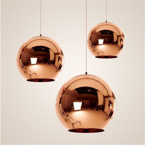 Tom Dixon Modern Mirror Gl Ball Pendant Lights Restaurant Copper Chrome Globle Lamps Hanging Light