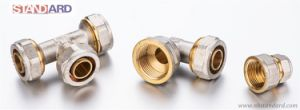 Compression Fitting/Female Tee and Elbow and Coupling/Brass Compress Fitting