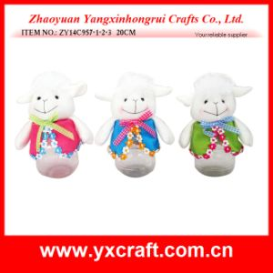 Easter Decoration (ZY14C957-1-2-3 20CM) Sheep Bottle for Easter Decoration pictures & photos