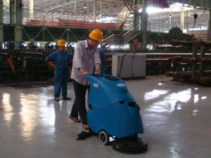 Gadlee Automatic Walk Behind Cleaning Machine Scrubber Dryer pictures & photos
