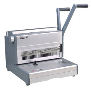 Manual Double Wire Binding Machine for A4 Book Binding (cw330) pictures & photos