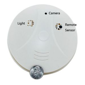 Smoke Detector Model with Hidden Mini Camera DVR and Motion Detection Surveillance DVR