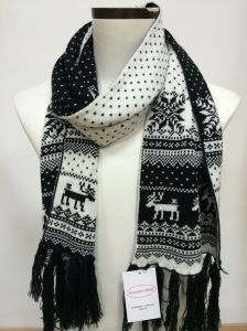 Acrylic Knitted Jacquard Scarf for Winter