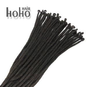 China Single Ended 20 Inch Black Synthetic Hair Crochet
