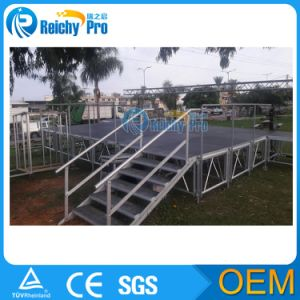 Anti-Slip Portable Stage, Aluminium Folding Stage, Waterproof Stage for Performance (1.22*1.22m /1.22*2.44m) pictures & photos