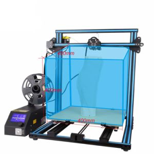 S4 3D Printer DIY Kit With Monitor Dual Z Axis T Screw Rods PLA 1 75mm  Filament Large Printing Size 400X400X400mm