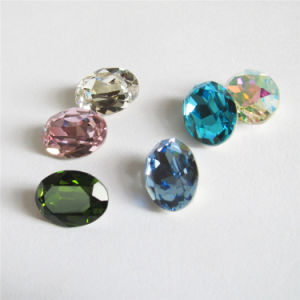Crystal Point Back Oval Crystal Stone Accessories (3002) pictures & photos