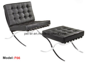 Astonishing Office Metal Leisure Leather Lounge Recliner Barcelona Sofa Chair Pe F66 Ocoug Best Dining Table And Chair Ideas Images Ocougorg