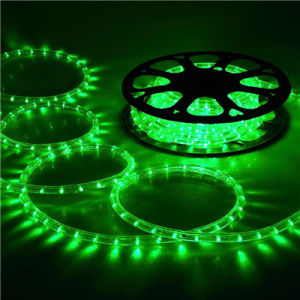 13mm Pvc Led Rope Light Good Brightness Green Indoor And Outdoor Use