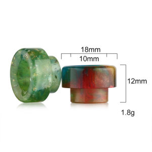 Vivismoke Wholesale Colorful Shining Resin Drip Tip for 528 Goon Kennedy 24 810
