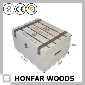 6 Bottles Wood Packaging Box Wooden Wine Box Gift Box