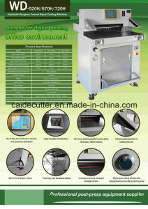 Hydraulic Paper Cutter Machine (WD-670H) pictures & photos